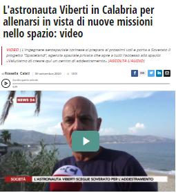 Viberti in Calabria per allenarsi in vista di nuove missioni nello spazio